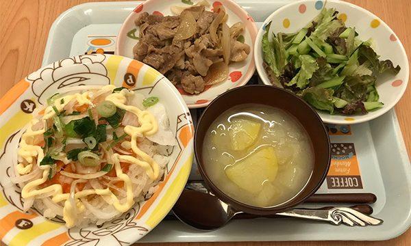 サーモン寿司とポン酢炒め