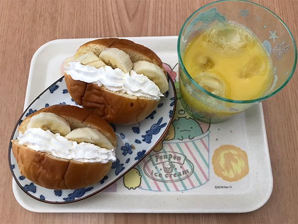 生クリームバナナサンド